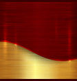 abstract cherry red and gold metallic background vector image