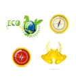 abstract eco and travel symbols set vector image vector image