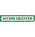 Access granted stamp vector image