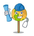 architect candy apple character cartoon vector image