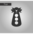 black and white style toy clown vector image vector image