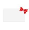 Blank Gift Tag With Bow vector image
