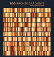 bronze gradientpatterntemplateset of colors for vector image vector image