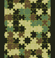 camouflage puzzle seamless vector image vector image
