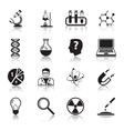 Chemistry or biology science icons set