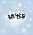 christmas snowfall background with lettering vector image