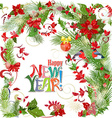 Colorful greeting card with winter pattern and vector image vector image
