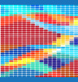 dark multicolor rainbow polygonal vector image vector image