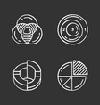 diagrams chalk icons set data graphic vector image vector image
