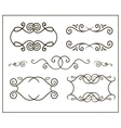 doodle frame and the curb vector image vector image