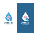 drop and click logo combination Aqua and vector image vector image