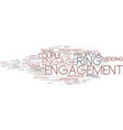 engage word cloud concept vector image vector image