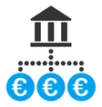 Euro Bank Transactions Flat Icon vector image vector image