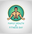 family health and fitness day logo icon vector image