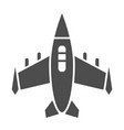 fighter aircraft solid icon airplane vector image