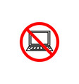 forbidden laptop icon can be used for web logo vector image