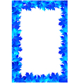 frame blue maple leaves vector image vector image