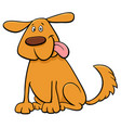 funny dog pet cartoon character vector image vector image