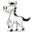funny white Horse vector image vector image