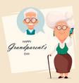 grandparents day greeting card vector image vector image