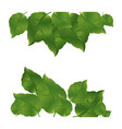 Green leaves background icon