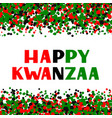 happy kwanzaa hand lettering on red green black vector image vector image