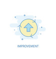 improvement line concept simple line icon vector image vector image