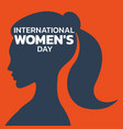 international womens day logo icon design vector image