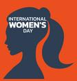 international womens day logo icon design vector image vector image
