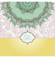islamic vintage floral pattern template frame for vector image vector image