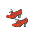 isolated flamenco shoes in hand drawn style vector image