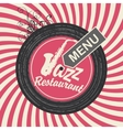jazz restaurant menu vector image