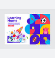 learning home education banner template vector image