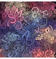 Letters abstract decorative doodles background vector image vector image