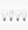 lighting bulb realistic glass transparent lamp of vector image