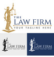 Logo law firm lady justice vector image