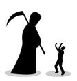 man is afraid of death vector image vector image