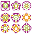 Nice abstract flower elements vector image