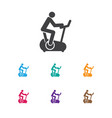 of exercise symbol on man on vector image