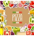 Pizza ingredients vector image