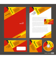 Professional corporate identity red yellow brown vector image vector image