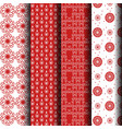 red and white pattern vector image