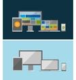 responsive ui flat design concept vector image vector image