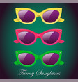 retro set of sunglasses icon vector image