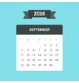 September 2016 Calendar vector image vector image