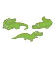 set crocodiles vector image vector image