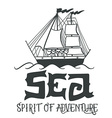 Spirit of adventure Hand drawn nautical vintage vector image vector image