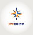 star direction logo symbol icon vector image vector image