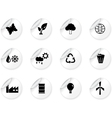 Stickers with environment icons vector image vector image