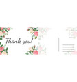 thank you roses card garden pink and vector image
